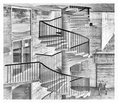 Spiral staircase (leo.roos) Tags: spiralstaircase spiral stairs staircase stairway trap wenteltrap roldal 462012 nex5n nex sonyczsonnar2418norway noorwegen 2012 spring lente darosa leoroos norwayspring2012 noiretblanc
