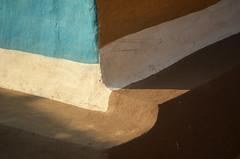 Modest Ingenuity. (Gattam Pattam) Tags: sun light plinth mud architecture abstract rural india chhattisgarh