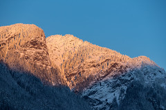 Monkey Face Mountain bathing in Alpenglow (Mason Aldridge) Tags: mountain mountains canada britishcolumbia fraservalley hope bc alpenglow sunset goldenhour gold sunrise gradient colors beautiful gorgeous pretty landscape 80200l 80200 drainpipe magicdrainpipe 70200 6d canon eos