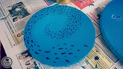 Fish swarm (Sandys.PiecesOfArt.) Tags: quallen jellyfish fish swarm blue undersea unter wasser acryl auf leinwand acrylic canvas acrylmalerei painting art kunst malerei blau sandyspiecesofart sandys piecesofart
