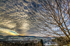 IMG_0755_6_7_tonemapped-2 (André Leonhardt) Tags: heaven abend beauty colors clouds canon deutschland erzgebirge eos70d evening germany hdr himmel hills landschaft landscape natur nature nacht night photography sonnenuntergang sunset wolken winter town trees