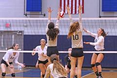 IMG_8118 (SJH Foto) Tags: girls volleyball high school york delone catholic team teen teenager net battle spike block action shot jump midair