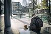 beggar (jrockar) Tags: streetphoto street streetphotography london candid moment instant decisive gherkin city urban dog man guy beggar begging x100s fuji jrockar janrockar idiot ordinarymadness