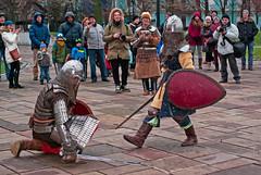 XIV (Andrii Apostoliuk) Tags: sword fight battle kard csata knight courage kyiv historical русичі лицарі воїни бій двобій меч щит лати захист варта defence defend protect