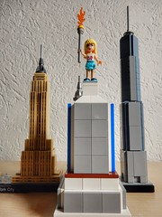 New Statue of Liberty (sander_sloots) Tags: lego friends moc statue liberty bricks steentjes vrijheidsbeeld skyline newyork architecture one world trade center empire state building 21028