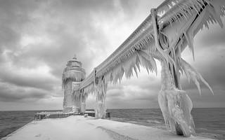St Joseph Lightouse in Winter.