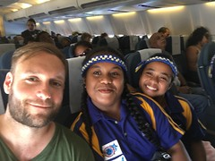 On my flight back from Kiribati to Nadi i met these fotballteam from Nauru!