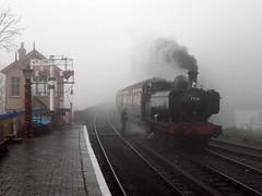 A Pannier In The Mist (Jason_Hood) Tags: severnvalleyrailway fog 060pt gwr 7714 bewdleystation svr