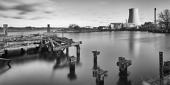 Seen better days 4 (another_scotsman) Tags: manchestershipcanal industrial derelict jetty mono blackandwhite industry