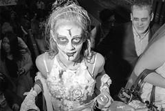 A Night On Bristol Town (Shot In The Street) Tags: streetphotography hp5 ilfordhp5 street bw 2016 film zombie canoneos3 analogue candid mono monochrome bristol filmisnotdead blackandwhite black ilford bristolzombiewalk2016 white
