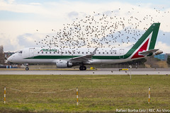 EI-RDD (rafaelborbagriz) Tags: embraer alitalia pássaros birds roma fui takeoff flock of bird e175 italia italy ejet megaplane
