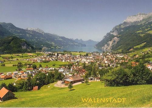 CH-325332 to UA Walenstadt from the Dorfhalde, Switzerland