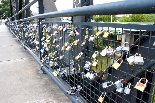 Love Locks of the Robert Redden Bridge - Rome, GA