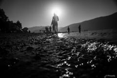 Breathing sunlight (.KiLTRo.) Tags: pucón ixregión chile kiltro lake water caburgua bw monochrome contrast sun summer fun people