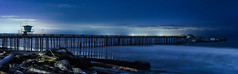 seacliff state beach panorama (pbo31) Tags: southbay santacruzcounty bayarea california night dark color nikon d810 january winter 2017 boury pbo31 northerncalifornia shore westcoast panoramic large stitched panorama seacliff statebeach pacific ocean fishingpier historic ship sunken sspaloalto wreck sunk pier storm damage beach blue tide wave black silhouette sky