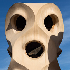Casa Milà Surprise (Iain Husbands) Tags: em5 yellow omd sunlight 2016 barcelona casamilà gaudi