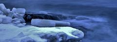 The rough sea (Mika Lehtinen) Tags: blue sea waves longexposure smooth nikon d600 sigma photomatix jakobstad finland fäboda ice water cold winter