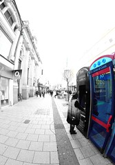 Phone boxesare still used (Tyrone Williams) Tags: cardiff samyang8mm 8mm canon canon7d street wideangle architecture people insight shoppers capital wales 2017 winter