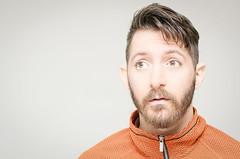 (Damien Cox) Tags: selfportrait autorretrato portrait self i ego myself me moi beard stubble scruff nikon male man masculine damiencoxcouk damiencox face eyes fleece brickpattern zip hair uk
