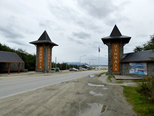 Entering Ushuaia