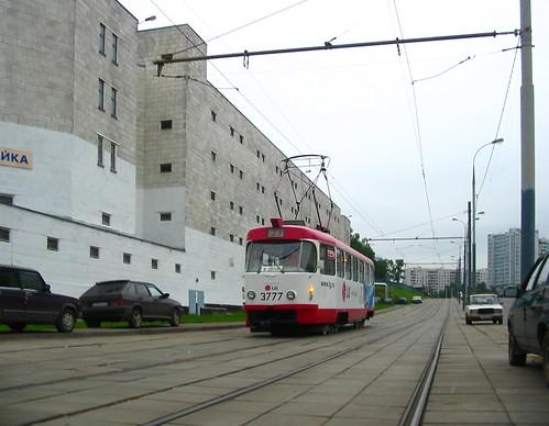 Moscow tram Tatra T3SU 3777