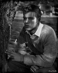 Thomas. 50s style (Terry Minella) Tags: bw noiretblanc pentax67 moyenformat 50s vintage portrait