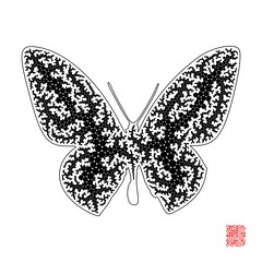 Butterfly Squeleton (Julleor) Tags: butterfly circle packing python generativeart squeleton xrvg julleor dots2art