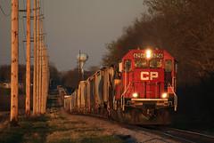 CP 6256 Byron Sag (rathman11) Tags: sunset canadianpacific cp goldenlight emd byronmn emdsd60 wasecasubdivision cp6256