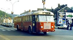Slide 031-82 (Steve Guess) Tags: red bus belgium belgique belgi hoy belgien vicinal sncv  nmvb