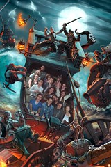 Pirates of the Caribbean (Elysia in Wonderland) Tags: birthday vacation holiday paris france june boat lucy ship ride amy disneyland pirates disney pete caribbean photopass rhys elysia 2015