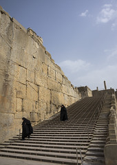 Entrance Stairs, Fars Province, Persepolis, Iran (Eric Lafforgue) Tags: sky people history tourism archaeology vertical horizontal architecture stairs outdoors photography ancient women asia day iran steps persia tourist womenonly unescoworldheritagesite stonewall copyspace orient cultures 2people twopeople thepast persepolis ruined traveldestinations famousplace إيران oldruin unescoworldheritagelist иран ancientcivilisation colourimage イラン irão iranianculture 伊朗 farsprovince unrecognizableperson achaemenidempire 이란 iran150235