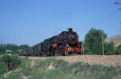 46223  bei Kayas  07.06.92 (w. + h. brutzer) Tags: analog train turkey nikon railway zug trains steam trkei 46 dampflok lokomotive kayas eisenbahnen tcdd dampfloks webru