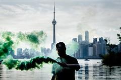 DSC_5799 (hn.jpg) Tags: toronto green skyline portraits nikon smoke sigma smokebombs 1020sigma lovetoronto d7000