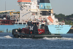 KIRBY MORAN in New York, USA. July, 2015 (Tom Turner - SeaTeamImages / AirTeamImages) Tags: nyc red usa newyork water port harbor marine unitedstates harbour transport vessel spot pony maritime transportation tugboat tug statenisland moran bigapple channel spotting waterway kvk tomturner killvankull kirbymoran