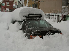 Cars were buried under the heavy snow. (UCAR)