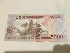 A 5000 note from Vanuatu!