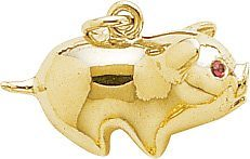 Rembrandt Charms Pig Charm, 14K Yellow Gold (goodies2get2) Tags: 200to500 amazoncom bestsellers gold