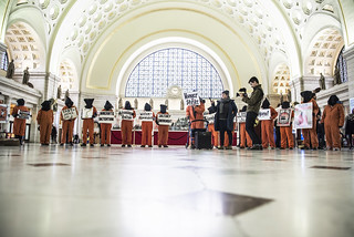 Witness Against Torture Holds an Anti-Torture Demonstration in Union Station