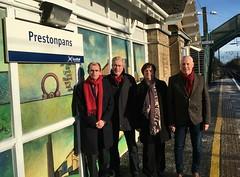 Backing a rail far freeze at Prestonpans rail station