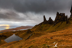 Old Man of Storr - Skye - 0336 (simply-landscapes.co.uk) Tags: isleofskye scotland skye 4seasons breaks canon6d cloudporn clouds exploring fog grass green hill landscape leefilters moments mountain mountains mountainside oldmanofstor outdoor outdoors perfect perfectlight quiraing rain ridge sky skyeweather storm stormy sunlight sunset trottenish trottenishridge visituk visitscotland weather wet stor seascape landscapephotographer landscapephotography