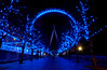 London Eye. Version 2014. (Serge Freeman) Tags: londoneye london england greatbritain uk christmas christmaslights blue alley famous symmetry citylife