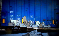 berzerker (timetomakethepasta) Tags: berzerker freight train graffiti art boxcar lw benching selkirk new york blue wasp globe wooden axle lamps moniker photography