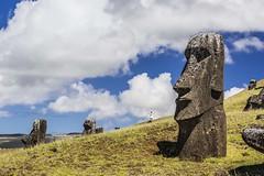 Easter Island (Isla de Pascua, Rapa Nui) (Traveloscopy) Tags: easterisland island remote isladepascua rapanui chile pacific pacificocean collapse abandon abandoned extinct extinctsociety polynesia moai statue carve carving rock stone quarry ranoraraku chl