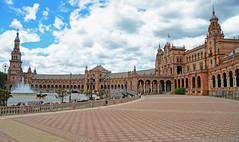 Plaza de España, Seville Spain (Gail K E) Tags: españa plazadeespaña sevilla spain seville andalucia plaza courtyard europe historical