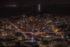 San Francisco (karinavera) Tags: travel sonya7r2 sanfrancisco night building ca tourism eeuu aerial cityscape coittower longexposure view city urban