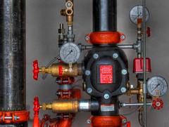 Adjustment (arbyreed) Tags: arbyreed red valves system firesupressionsystem water sprinkler analogguages meters metering measuring pipes victaulic dryalarmvalve