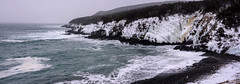 Frozen (Tk_White) Tags: nikon d750 50mm 18g landscape panorama winter outer cove newfoundland ocean waves cliff ice beach