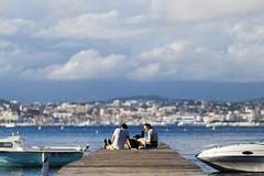 Pier with a view (Adrien Marc) Tags: ilesdelérins lérinsislands saintemarguerite atmosphere cannes pier jetty