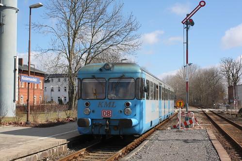 KML: VT 408 verlässt Klostermansfeld in Richtung Wippra