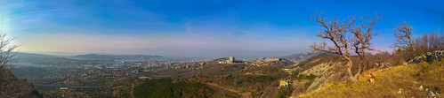 Panorama su Trieste dal bosco Bazzoni, Trieste - Italy